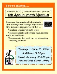 Math Museum Invitation 6-9-2015